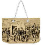 U. S. Cavalry Hunting Garza Men On The Rio Grande Weekender Tote Bag