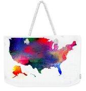 U S Map Color  Weekender Tote Bag