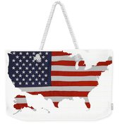 U S Map Stars N Stripes  Weekender Tote Bag