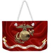 U. S.  Marine Corps - N C O Eagle Globe And Anchor Over Corps Flag Weekender Tote Bag