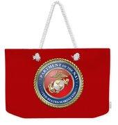 U. S. Marine Corps - U S M C Seal  Weekender Tote Bag