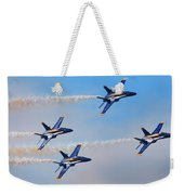 U S Navy Blue Angeles, Formation Flying, Smoke On Weekender Tote Bag