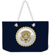 Vice Presidential Service Badge On Blue Velvet Weekender Tote Bag