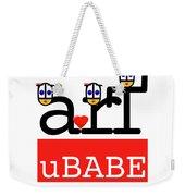uBABE Art Wave Weekender Tote Bag