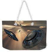 Ufos And Fighter Planes In The Skies Weekender Tote Bag
