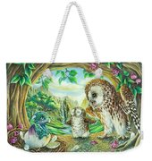 Ugly Duckling - Dragon Baby And Owls Weekender Tote Bag