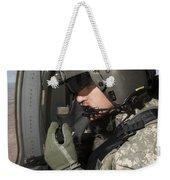 Uh-60 Black Hawk Crew Chief Looking Weekender Tote Bag