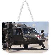 Uh-60 Black Hawk Refuels Weekender Tote Bag