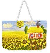 Ukrainian House With Sunflowers Weekender Tote Bag