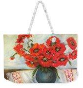 Ukrainian Poppies Weekender Tote Bag