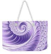 Ultra Violet Luxe Spiral Weekender Tote Bag