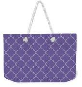 Ultra Violet Quatrefoil Weekender Tote Bag
