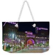 Umass Night Image Weekender Tote Bag