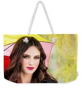 Umbrella Lady Weekender Tote Bag