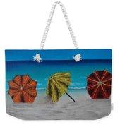 Umbrellas On The Beach Weekender Tote Bag