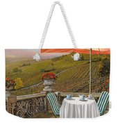 Un Caffe Weekender Tote Bag by Guido Borelli