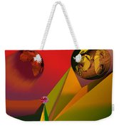 Unbalanced-the Source Of Violence Weekender Tote Bag
