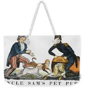 Uncle Sam: Cartoon, 1840 Weekender Tote Bag