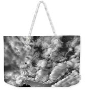 Under Cover In Black And White Weekender Tote Bag