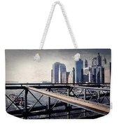 Under The Brooklyn Bridge Weekender Tote Bag