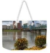 Under The Maple Tree In Portland Oregon During Fall Weekender Tote Bag