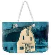 Under The Vermont Moonlight Watercolor Weekender Tote Bag