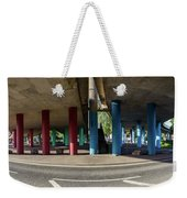 Under The Viaduct A Panoramic Urban View Weekender Tote Bag
