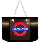 Underground Sign Weekender Tote Bag