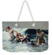 Undertow Weekender Tote Bag by Winslow Homer