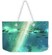 Underwater Background With Sunbeams Weekender Tote Bag