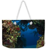 Underwater Crevice Through A Coral Weekender Tote Bag