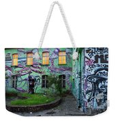 Underwater Graffiti On Studio At Metelkova City Autonomous Cultu Weekender Tote Bag