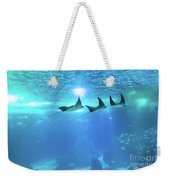 Underwater Manta Background Weekender Tote Bag