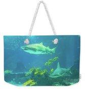 Underwater Shark Background Weekender Tote Bag