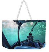 Underwater Ship Blue Ocean Weekender Tote Bag