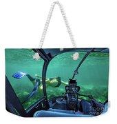 Underwater Submarine Woman Weekender Tote Bag