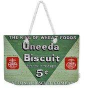 Uneeda Biscuit Vintage Sign Weekender Tote Bag