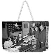 Unemployment Census, 1937 Weekender Tote Bag