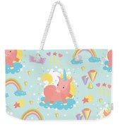 Unicorn And Rainbow Pattern Weekender Tote Bag