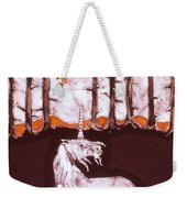 Unicorn Below Trees In Autumn Weekender Tote Bag