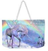 Unicorn Of The Rainbow Card Weekender Tote Bag