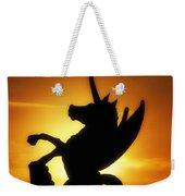 Winged Unicorn Sentinel  Weekender Tote Bag