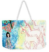 Unicorns Come Home Weekender Tote Bag