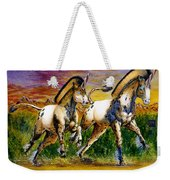 Unicorns In Sunset Weekender Tote Bag