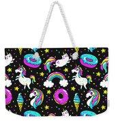 Unicorns Whimsical Pattern Weekender Tote Bag