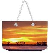 Union Reservoir Sunrise Feb 17 2011 Canvas Print Weekender Tote Bag
