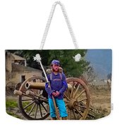 Union Soldier With Cannon Weekender Tote Bag