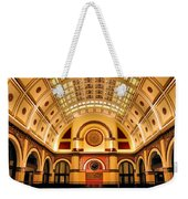 Union Station Balcony Weekender Tote Bag by Kristin Elmquist