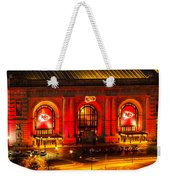 Union Station In Chiefs Red Weekender Tote Bag