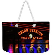 Union Station Lights Weekender Tote Bag